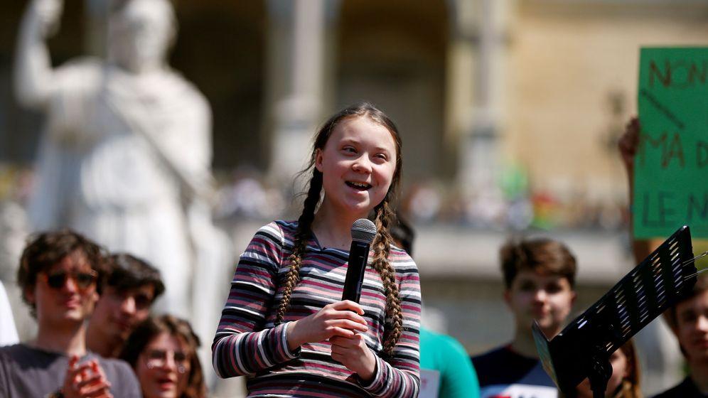 Foto: Greta Thunberg durante unas manifestaciones con el cambio climático. (Reuters)