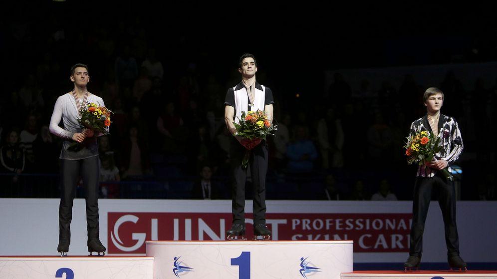 Foto: Javier Fernández, en el podio (Reuters)