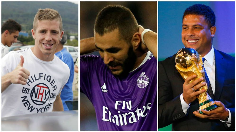 Foto: De izquierda a derecha: Iker Muniain, Karim Benzema y Ronaldo Nazário (EFE/Gtres)