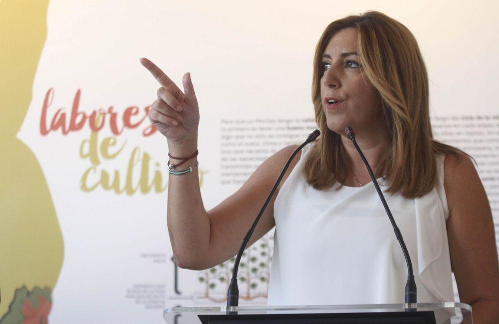 Foto: Susana Díaz, durante la inauguración del Centro de la Cultura del Vino, este 19 de septiembre en Moriles, Córdoba. (EFE)