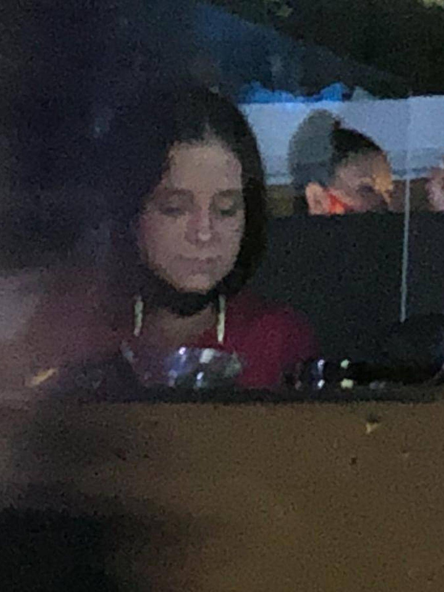 Victoria Federica durante el concierto. (Vanitatis)