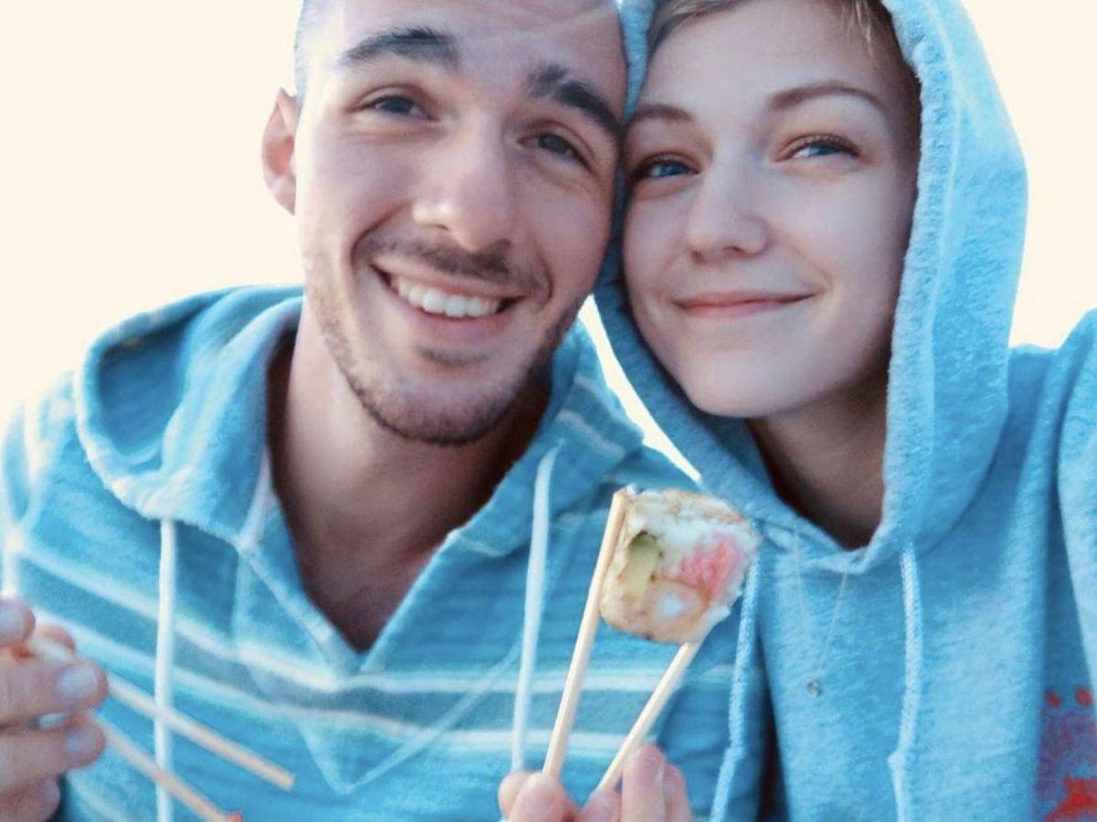 Foto: Gabby Petito junto a su novio, Brian Laundrie. Foto: Efe