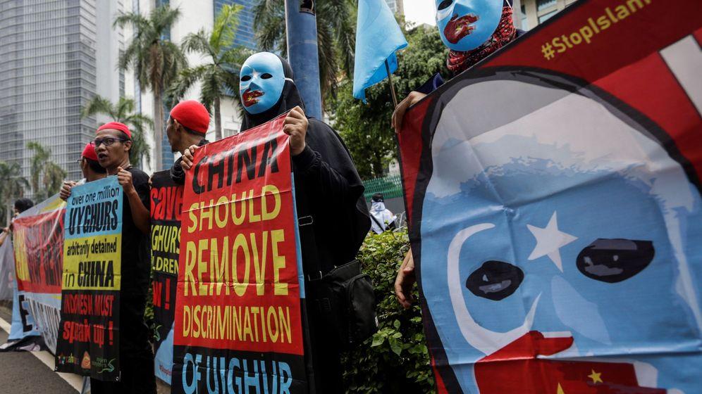 Foto: Protestas contra Pekín por su tratamiento a los figures. (EFE)
