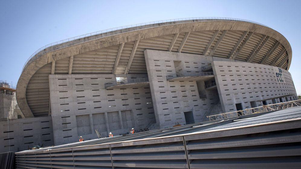 Foto:  Vista del estado de las obras en el estadio de la Peineta, futuro estadio del Atlético de Madrid. (EFE)