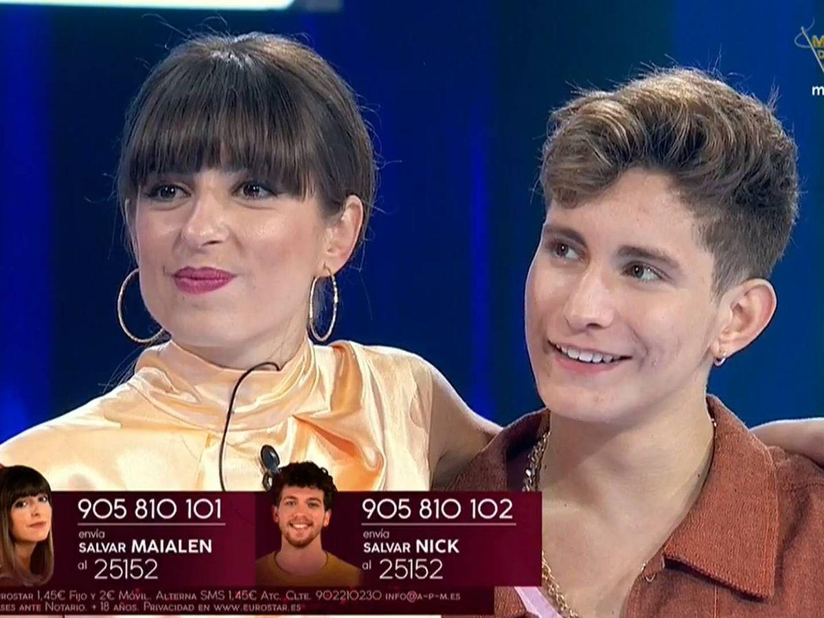 Foto: Maialen y Nick, en la gala 3 de 'OT 2020'. (TVE)