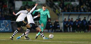 Post de La pachorra de Bale en la celebración del gol del Real Madrid contra el Unionistas