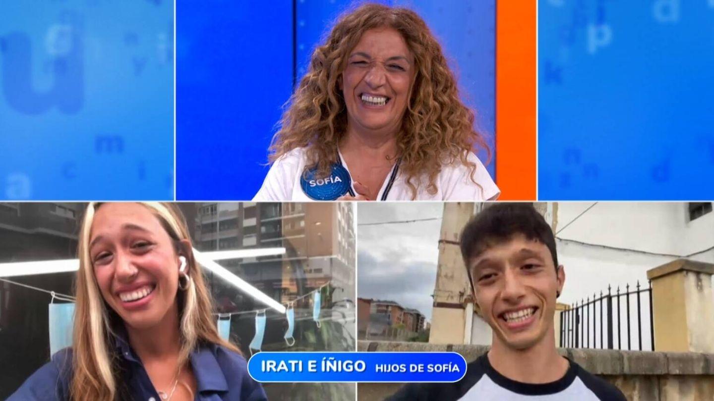 Sofía en conexión con sus hijos. (Atresmedia Televisión)