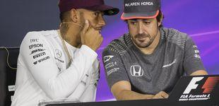 Post de La broma de David Bisbal a Fernando Alonso con Lewis Hamilton de cómplice