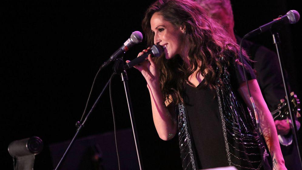 Foto: Malú, durante una actuación en Las Vegas. (Getty)