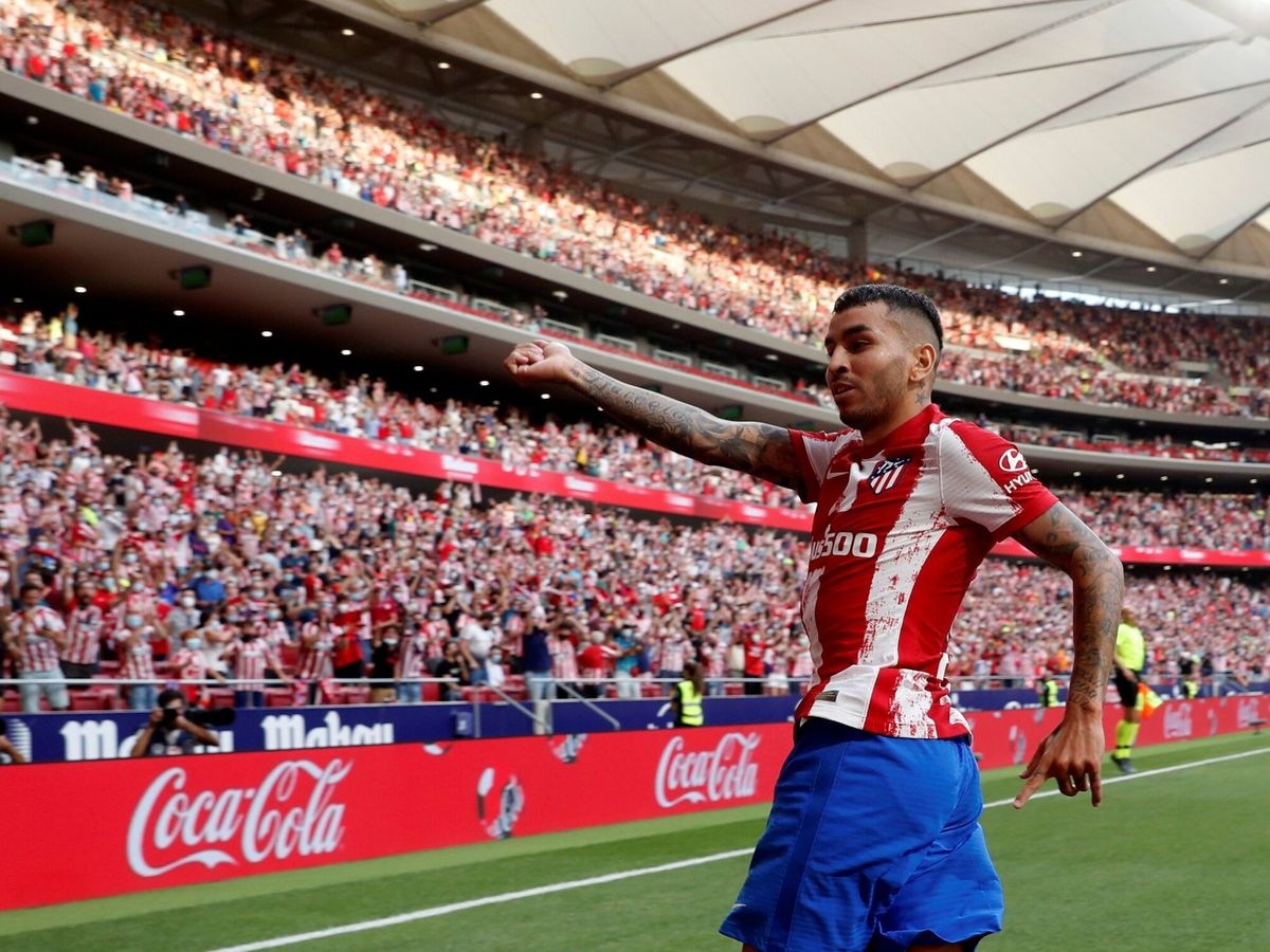 Foto: Correa celebra el gol. (EFE)