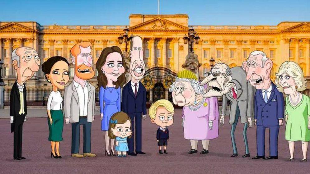 Foto: La familia real británica en la serie 'The Prince'. (HBO)