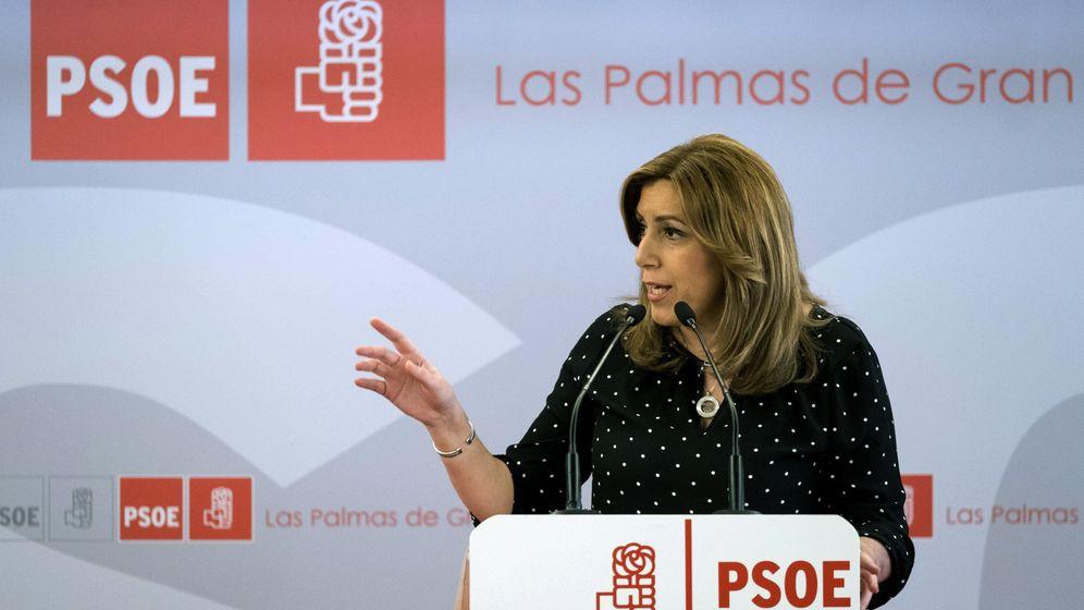Foto: La presidenta de la Junta de Andalucía y candidata a secretaria general del PSOE, Susana Díaz, el pasado fin de semana en Las Palmas. (EFE)