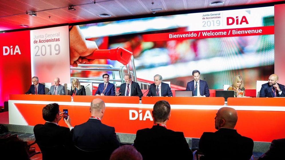 Foto: Junta de accionistas del grupo DÍA. (EFE)