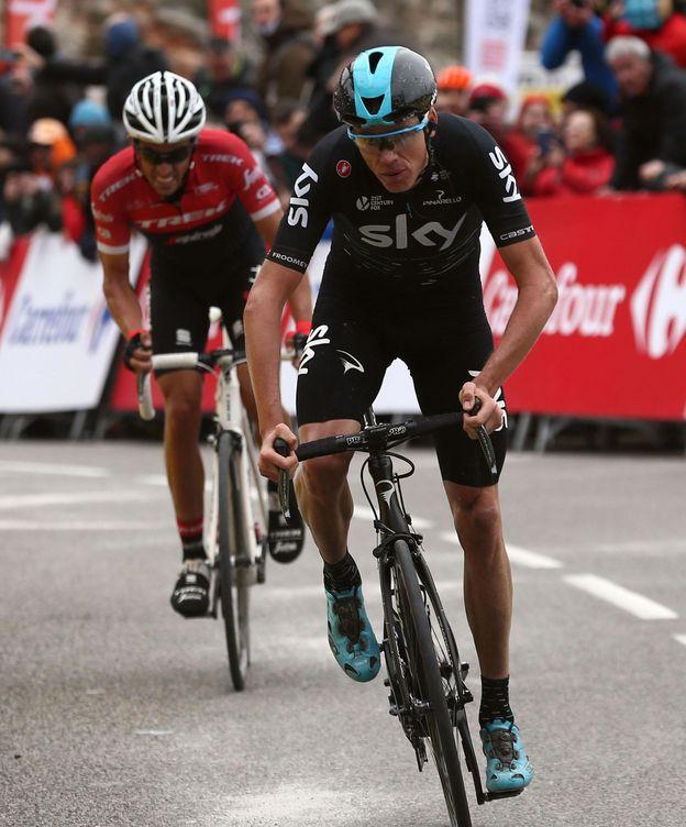Foto: Chris Froome persigue su primera Vuelta; Alberto Contador, la cuarta. (EFE)