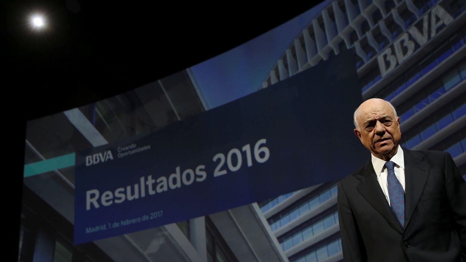 Foto: Francisco González, presidente de BBVA, en la presentación de los resultados de 2016. (Reuters)