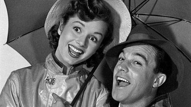 Debbie Reynolds y Gene Kelly, en 'Cantando bajo la lluvia'. (Metro-Goldwyn-Mayer)