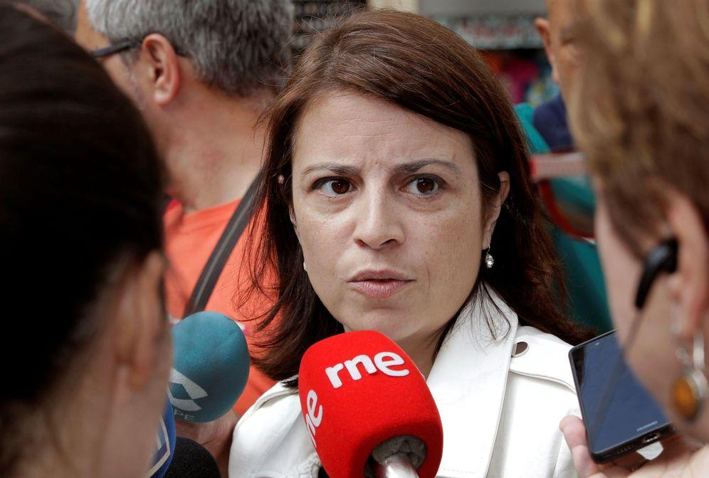 Foto: Adriana Lastra, vicesecretaria general y portavoz del PSOE en el Congreso, este 1 de julio en Oviedo. (EFE)