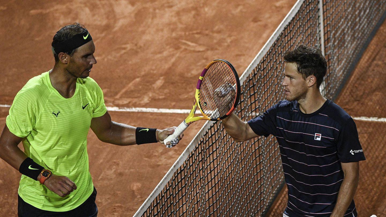 Nadal fue derrotado por Schwartzman en Roma (Reuters)