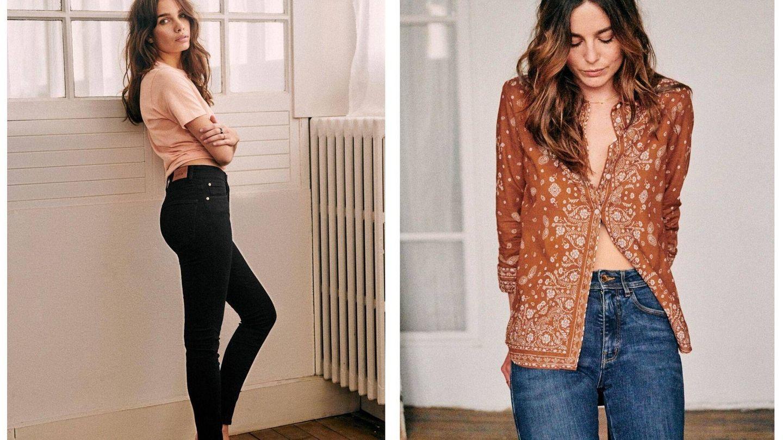 Dos de los jeans de Sézane. (Cortesía)