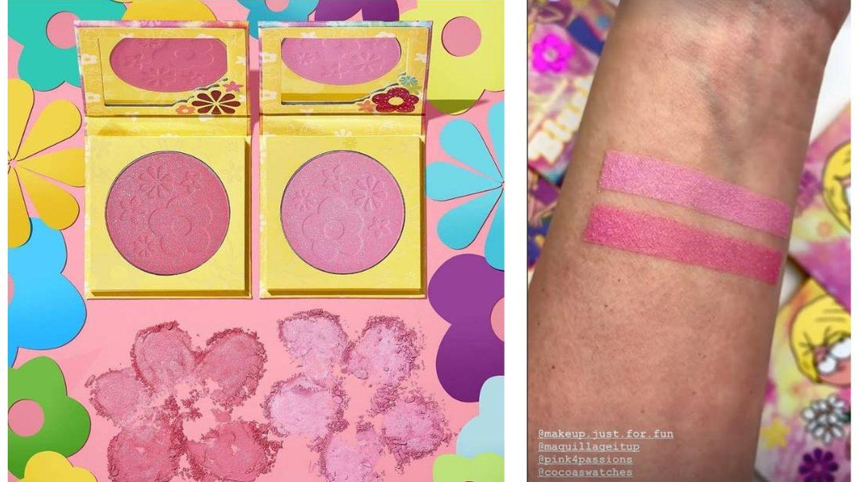 Pigmentación de los rubores de la colección Lizzie McGuire de ColourPop. (Instagram @colourpopcosmetics)