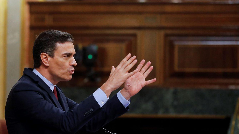 Foto: El presidente del Gobierno, Pedro Sánchez, en el Congreso. (EFE)