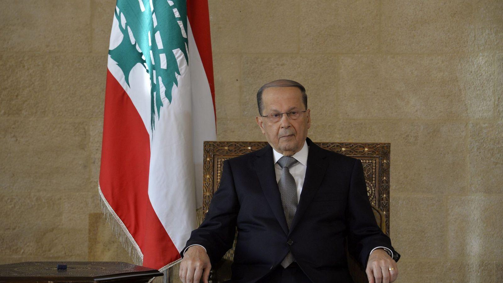 Foto: Fotografía oficial de Michel Aoun como nuevo presidente del Líbano (EFE)