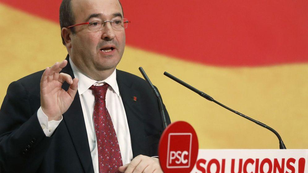Foto: Miquel Iceta en un acto electoral del PSC en Vilanova. (EFE)
