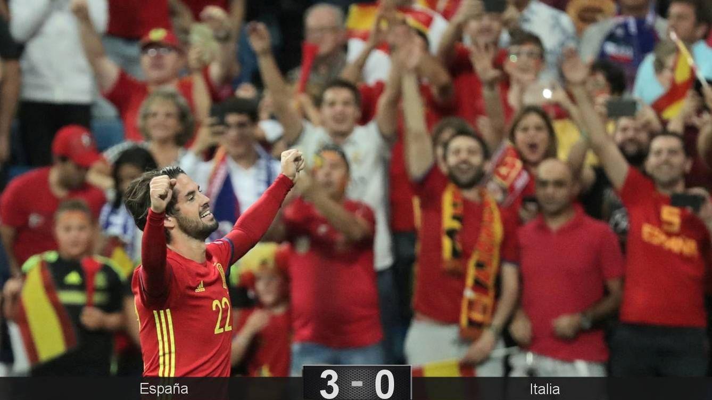Foto: Isco marcó los dos primeros goles en la victoria de España ante Italia. (Reuters)