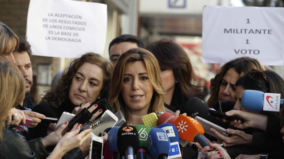 Susana Díaz calla ahora pese a llevar sus listas  salpicadas de imputados