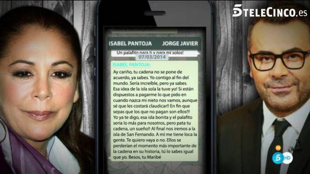 Contigo al fin del mundo: los mensajes entre Isabel Pantoja y Jorge Javier