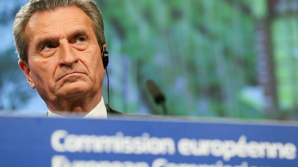 Foto: El comisario europeo de Presupuesto, Günther Oettinger (EFE)