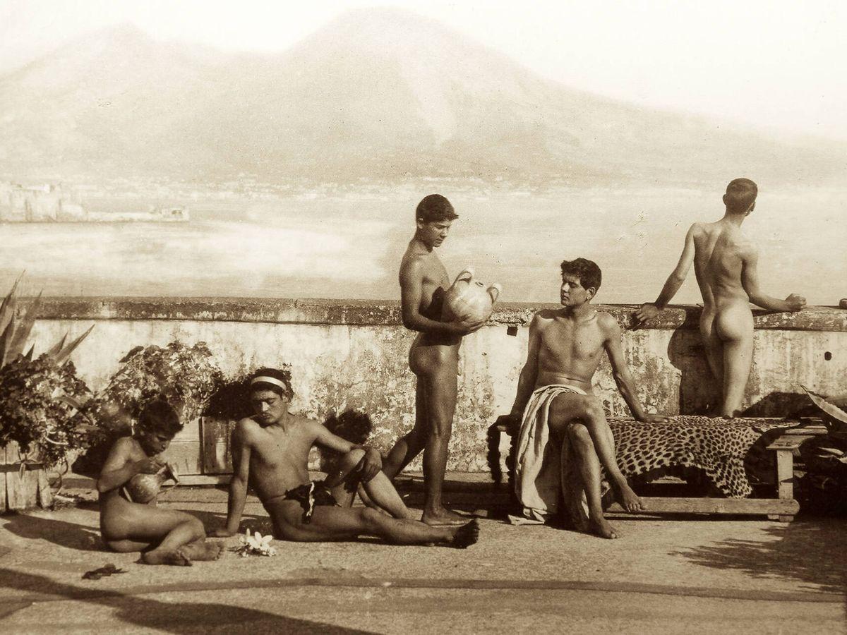 Foto: Wilhelm von Gloeden (1856-1931), Terra del fuoco.