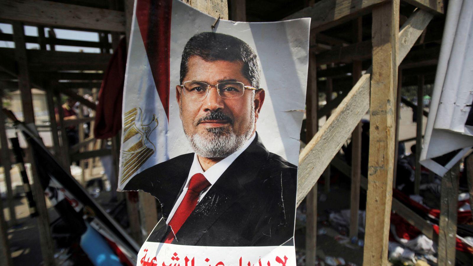 Foto: Póster de Mohamed Mursi. (Reuters)