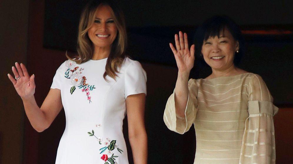 Foto: Melania Trump y Akie Abe, mujer del primer ministro japonés. (Reuters)