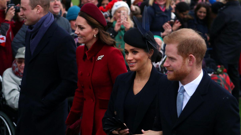 Los duques de Sussex y los duques de Cambridge en una imagen de archivo. (Reuters)
