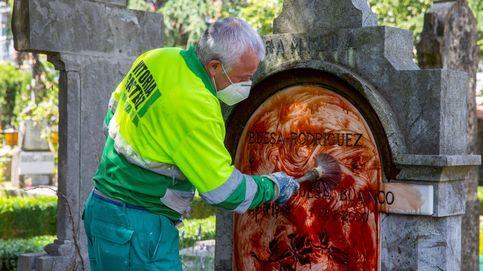 Indignación general por el ataque con pintura roja al panteón de Fernando Buesa