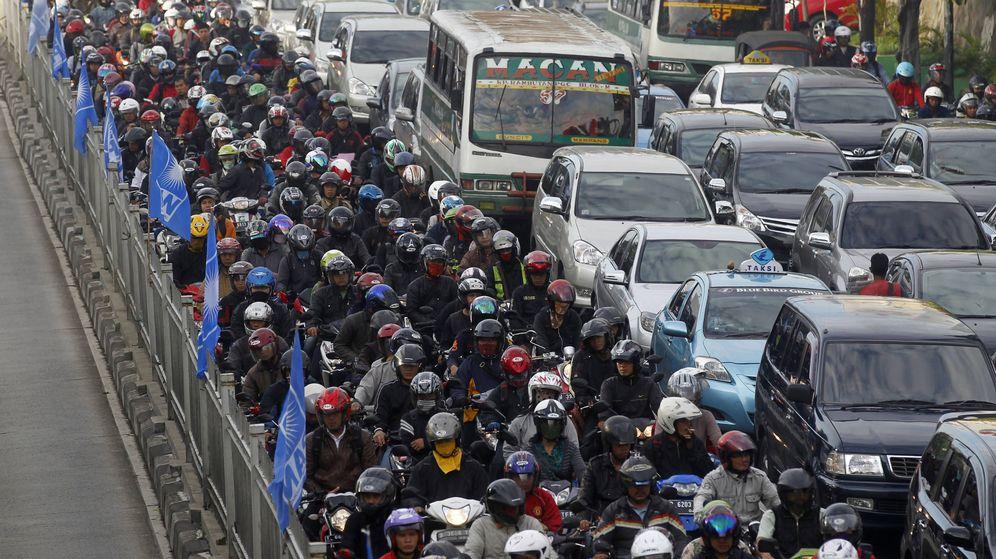 Foto: Un atasco en Yakarta. (Reuters)