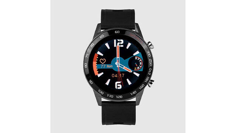 Smartwatch Neckmarine de caucho negro