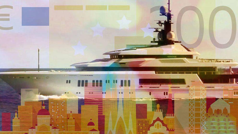 Atraca en Barcelona el Hermitage, yate de 100 millones de euros del ruso Sedikh