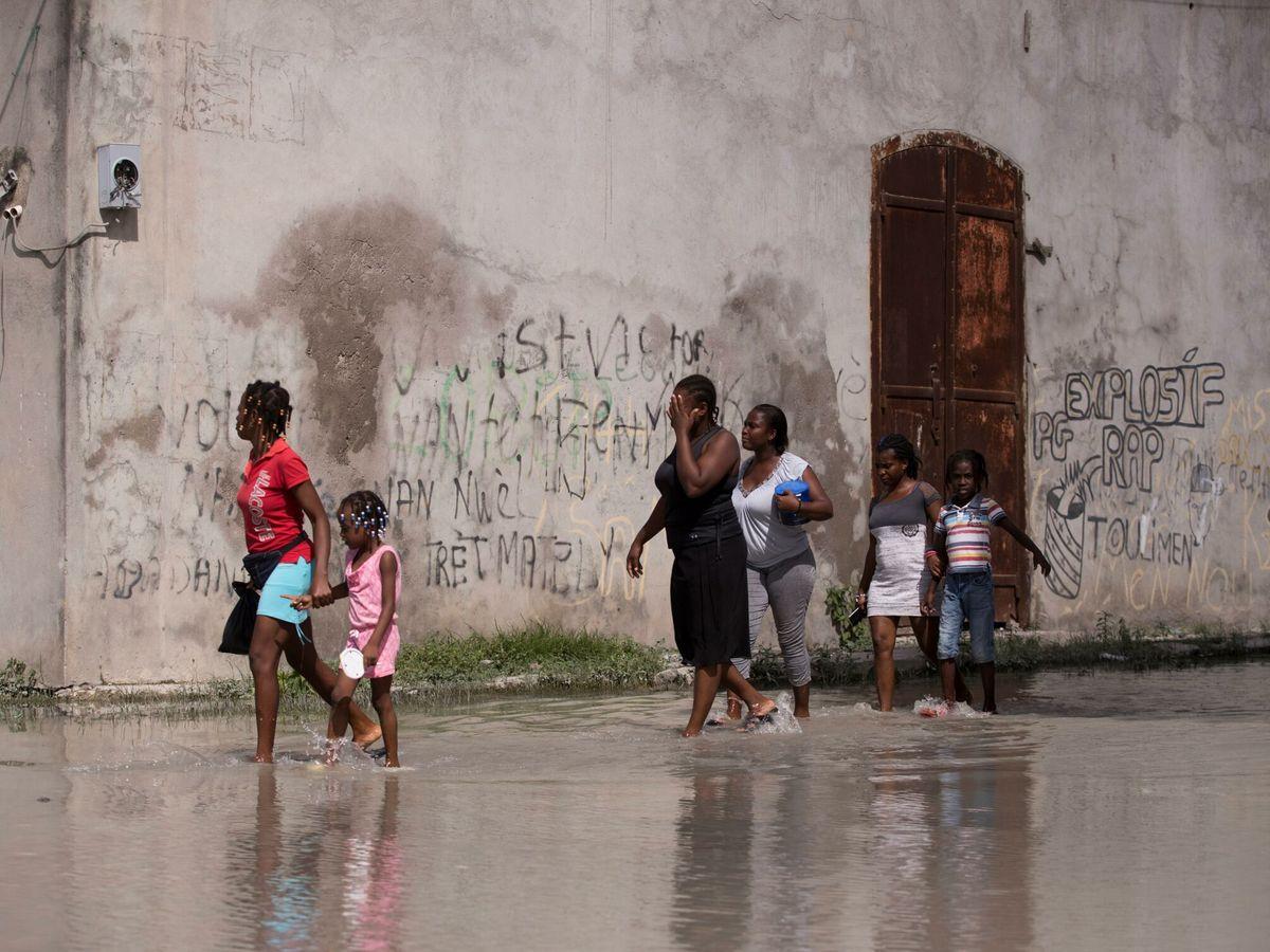 Foto: Inundaciones en Haití. (EFE)