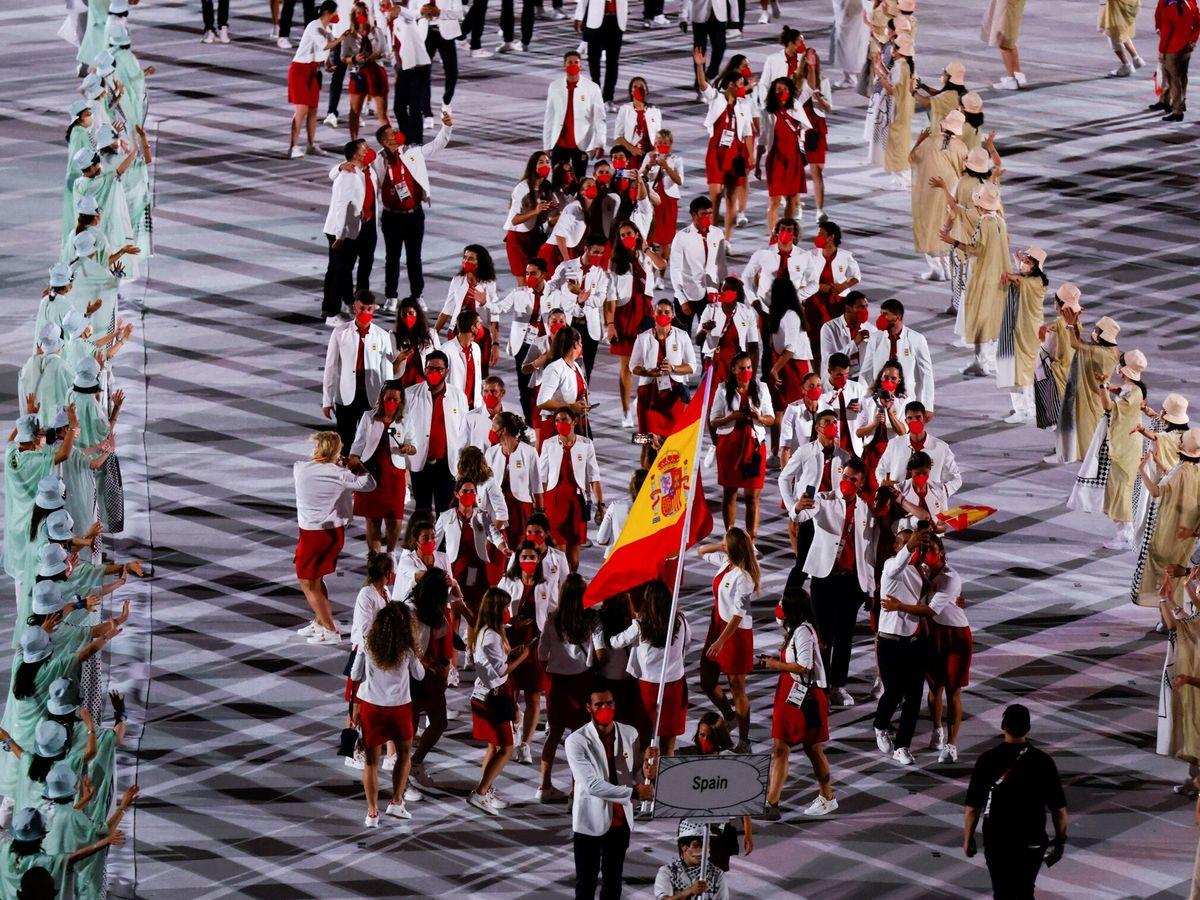 Foto: La delegación de España, durante la ceremonia inaugural de los Juegos Olímpicos. (EFE)