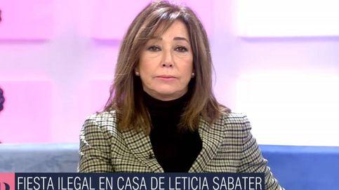 Ana Rosa vapulea a uno de los asistentes a la fiesta ilegal en casa de Leticia Sabater