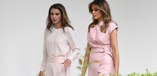 Post de Melania Trump y Rania de Jordania, prácticamente iguales en otra 'coincidencia'