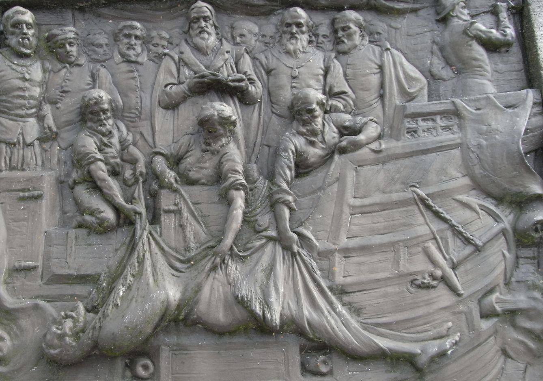 Foto: Placa de bronce conmemorativa del entierro de Francis Drake, Joseph Boehm. (Wikipedia)
