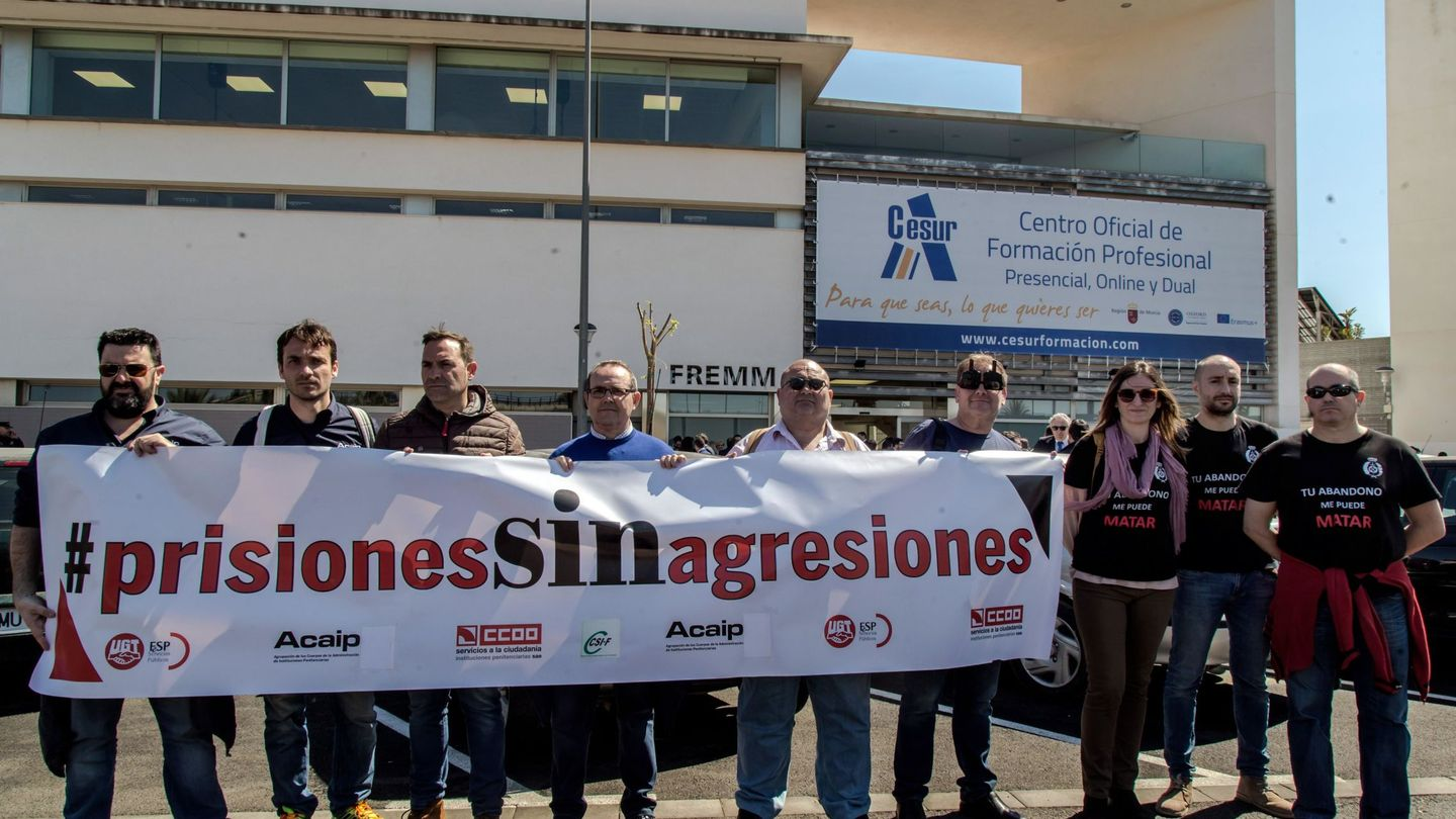Protesta de funcionarios de prisiones. (EFE)