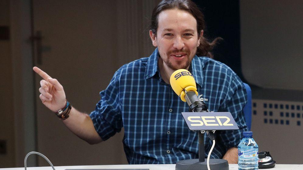 Foto: El líder de Podemos, Pablo Iglesias, durante una entrevista en la 'Cadena SERr'. (EFE)