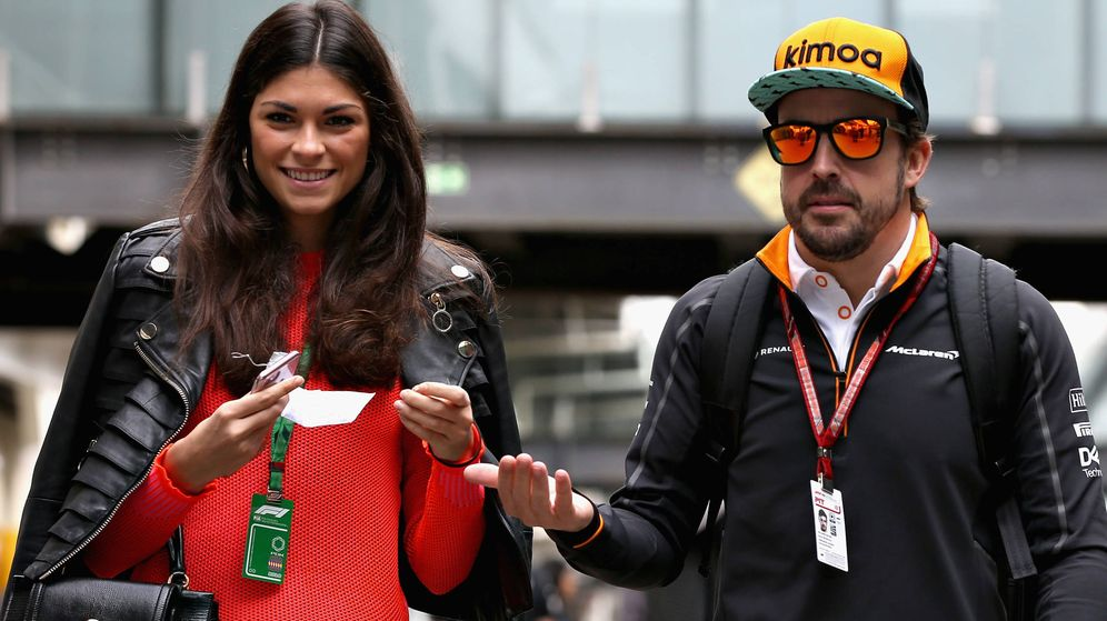 Foto: Linda Morselli y Fernando Alonso. (Getty)