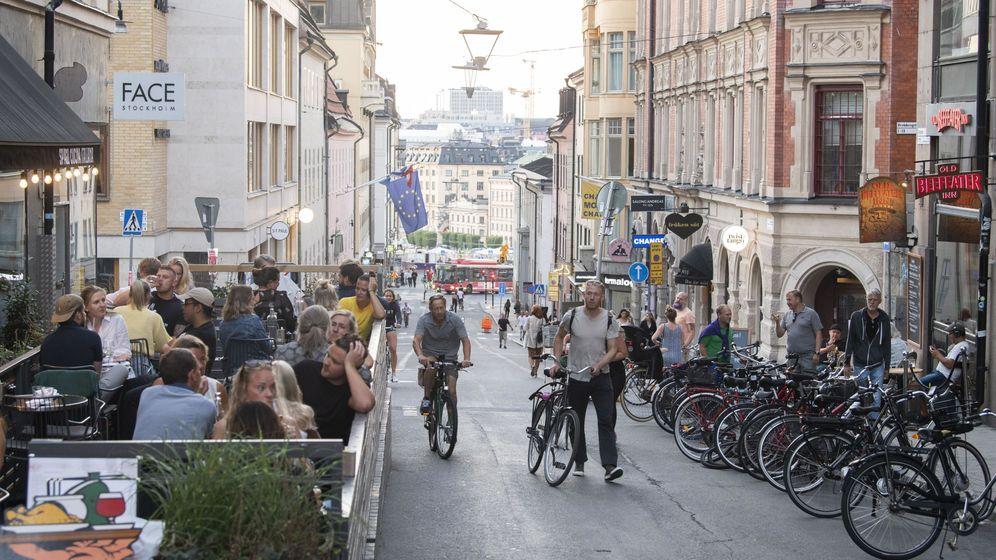 Foto: Así lucía este 20 de agosto el barrio de Sodermalm en Estocolmo (Fredrick Sandberg / EPA)