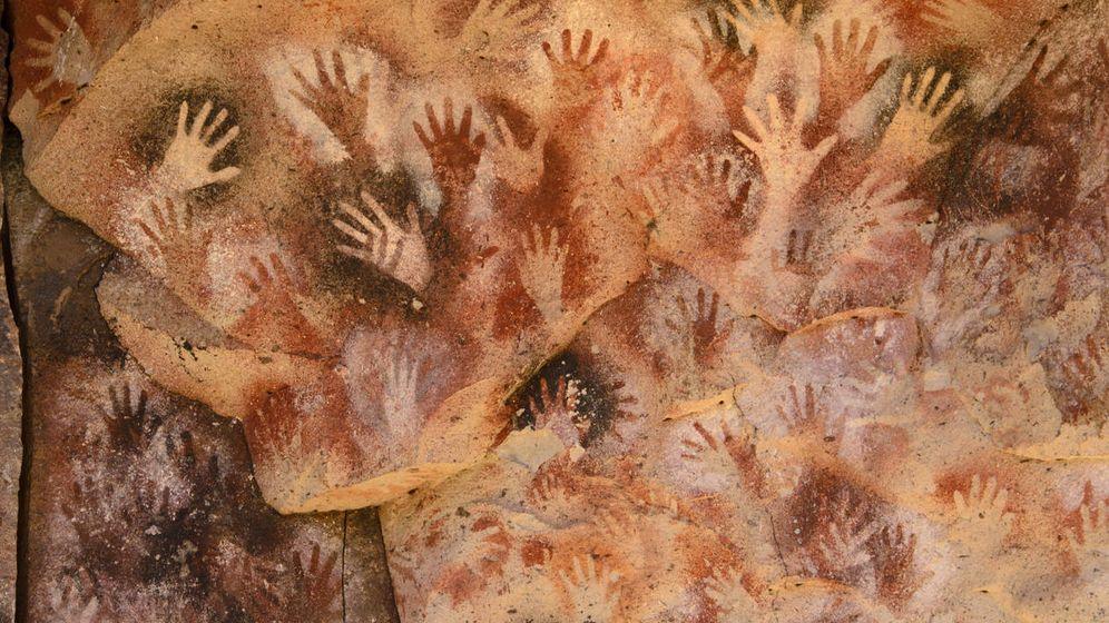 Foto: Pinturas rupestres aborígenes en una cueva de la Patagonia argentina. (iStock)