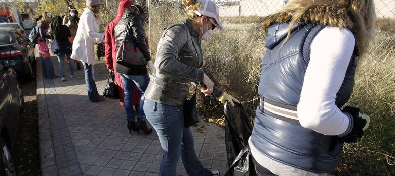Foto: Protesta de prostitutas en el distrito madrileño de Villaverde (EFE)